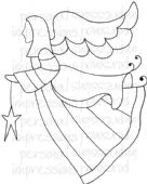 Lindsay Mason Designs - Zendoodle Angel - Clear Stamp - CICSA6306